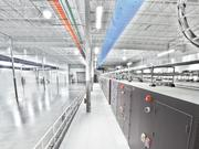 A row of modular data centers at an IO data center facility in the Valley. Phoenix's data center market has picked up recently with renewed leasing activity.