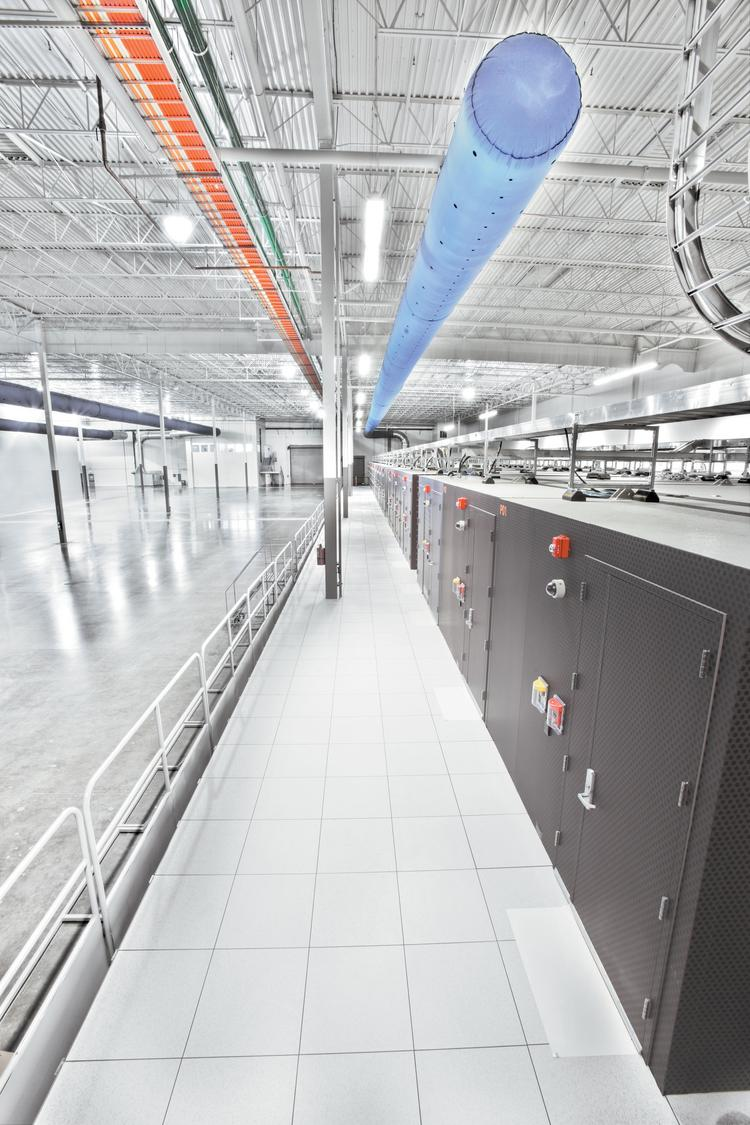 A row of modular data centers made by IO represents the wave of the future for businesses looking to store their information.