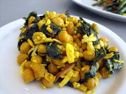 Curried garbanzo and kale salad at Crocker Cafe.