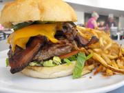 Lucky Dog Ranch burger will all the fixings, $11 at Crocker Cafe.