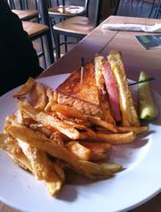 Fried bologna sandwich at Toby Keith's.