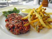Steak tartare at Waterboy.