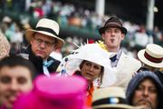 Spectators watch the action on Derby Day 2013.