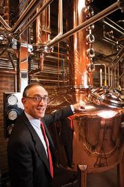 Max Shapira, president of Heaven Hill Distilleries, at the company's new Evan Williams Bourbon Experience on Main Street.