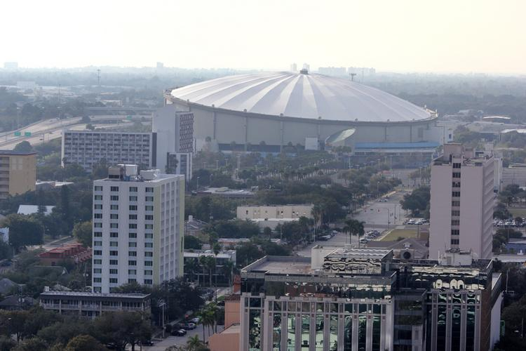 Tropicana Field, home of the Tampa Bay Rays, in St. Petersburg