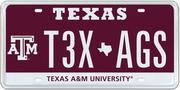 The Texas A&M specialty plate was the ninth best seller in 2013 with 850 buyers.
