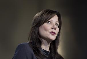 Mary Barra, CEO General Motors Co. (GM), speaks during the 2012 North American International Auto Show (NAIAS) in Detroit, Michigan, on Tuesday, Jan. 10, 2012. At the time of this talk Barra was the company's senior vice president.