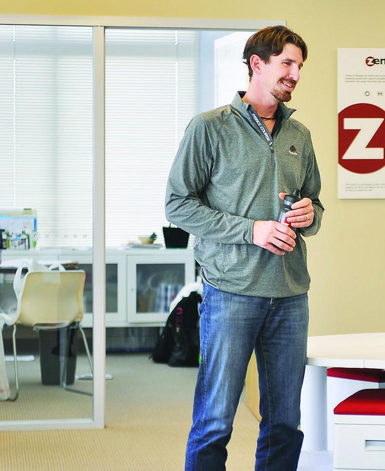 Jeff Gardner, CEO of Zen Planner, at the company's Highlands Ranch office in early 2014. The software company has partnered with Denver's PaySimple.