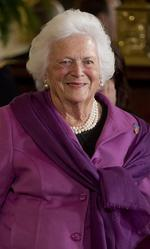 Former first lady Barbara Bush remains hospitalized in Houston