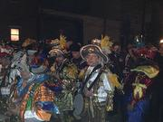 As night falls, the Mummers don't lose steam.