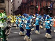 The Mummers march down Broad Street.
