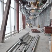 The interior of UHS's new trauma bridge — which runs from the original parking garage to the new tower — will have two separate floors — one where trauma patients arriving via helicopter will be shielded from the weather and onlookers —and another strictly for UHS employees. The original parking garage will become a UHS and AirLife employee-only facility.