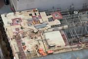 Here's a bird's-eye view of the construction site.