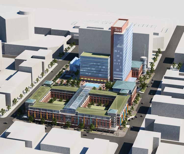The Cordish Cos. recently revised its plans for a downtown Louisville development that would be near its Fourth Street Live retail/restaurant complex, which opened in 2004. The new development would be bounded by Muhammad Ali Boulevard and Second, Liberty, and Third streets.