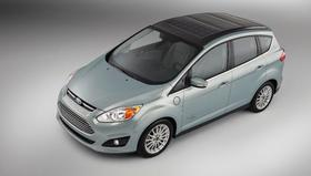Ford's C-Max Solar Energi concept car is a sun-powered hybrid vehicle.