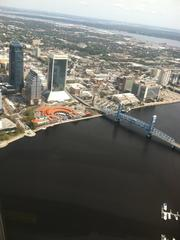 Overlooking the St. Johns River and Downtown's Northbank.