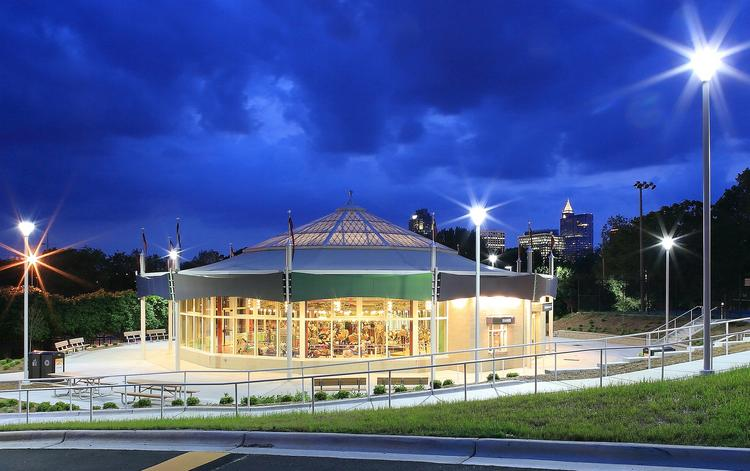 The Chavis Park Carousel House, owned by the City of Raleigh, has been in operation since 1916, and a complete renovation of the entertainment attraction was completed in 2013. It was nominated in the three different categories, including Top Redevelopment, Top Hospitality/Entertainment Development and Top State/County/Municipal Project.