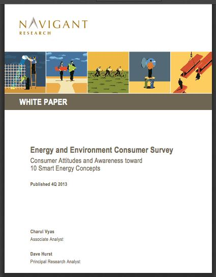 Cover of the new Navigant report on clean energy.
