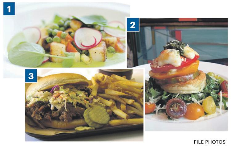 Three of 10 local restaurants in Zagat's 2012 list include cuisine from: 1. Cafe Provence in Prairie Village; 2. Cafe Sebastienne in Kansas City; 3. Oklahoma Joe's Barbecue in Kansas City, Kan.