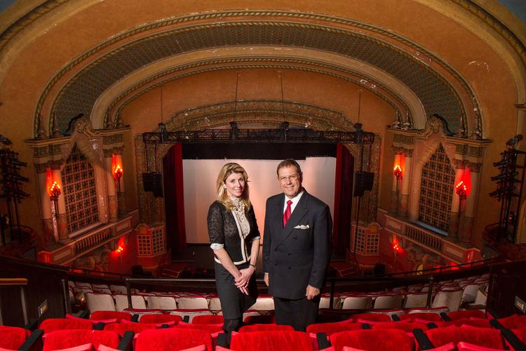 Orpheum Theatre President Jennifer Wright and board chairman Harvey Sorensen are leading an effort to raise $30 million to renovate the theater.
