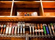 A selection of brews on tap, mostly local, available at the bar.
