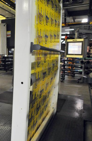 Labels print on the line at Bryce Corp., which received a 10-year PILOT to consolidate some operations at 5405 Hickory Hill in Memphis.