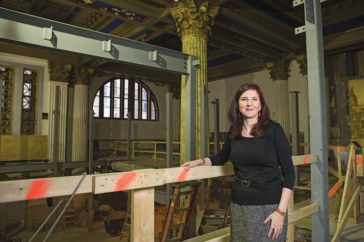 """Lesley Malin is helping Chesapeake Shakespeare Co. set up its new home in what has become Baltimore's """"theater triangle."""""""