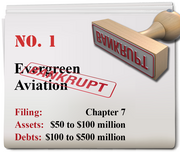 Evergreen Aviation International of McMinnville filed for Chapter 7 on Dec. 31.