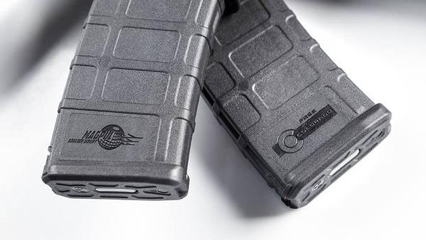 Samples of limited-edition magazines that Magpul sold to raise funds for an effort to fight Colorado's new gun-control laws.