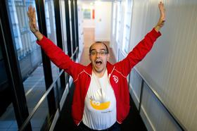 Dave McClure, founding partner of 500 Startups, stands for a photograph after a 2011 interview in San Francisco.