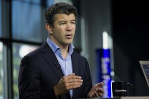 Travis Kalanick, chief executive officer of Uber Technology Inc., speaks during a Bloomberg West Television interview in San Francisco, on November 25, 2013.