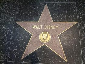 Walt Disney's star on Hollywood Walk of Fame.