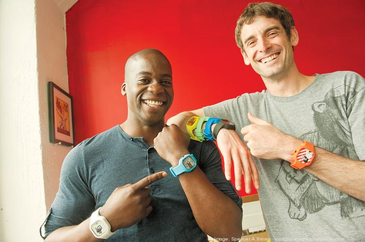 """""""You're still getting a quality timepiece, but you're getting a more dynamic kind that can tell your story,"""" says Schwartz, right, with Oluwole."""