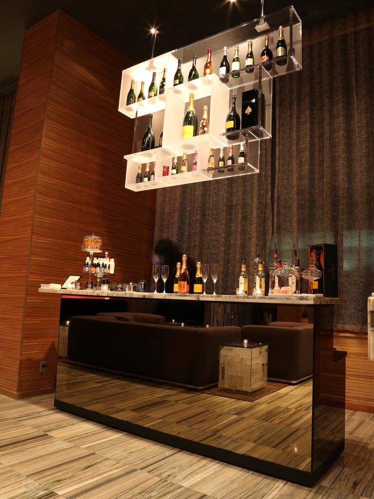 Releve Champagne Lounge carries a selection of 50 champagnes and sparkling wines.