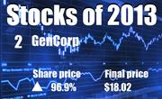 No. 2. GenCorp Inc. of Rancho Cordova (NYSE: GY). The company's share price rose 96.9 percent in 2013, to end the year at $18.02.