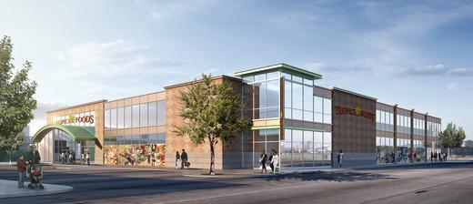 An artist rendering of the new Tropical Foods supermarket to be built in Dudley Square.