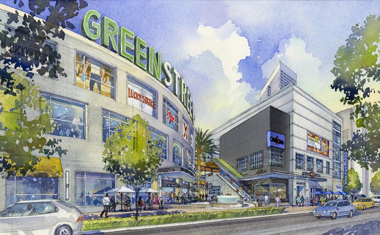 Houston-based Midway Cos. announced the rebranding of The Houston Pavilions as GreenStreet. Click through the slideshow to see more renderings of GreenStreet.