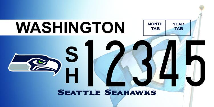 Seattle Seahawks and Sounders FC special license went on sale Jan. 2 and will help raise more than $109,000 for two charities.