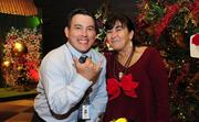 """University of Hawaii, Cancer Center executives Bryan Cheplic, left, public information officer, and Sandra Sinclair, compliance officer, at the inaugural """"Trees by the Sea""""  benefit for the center."""
