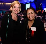 B.A. Alpert, partner at Big Table Agency, and Henna Inam with Transformational Leadership Inc.