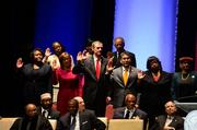 Members of Atlanta City Council are sworn in for another term.