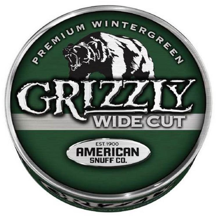 """American Snuff Co.'s Grizzly brand is expanding  its """"wide cut wintergreen"""" flavor product nationwide."""