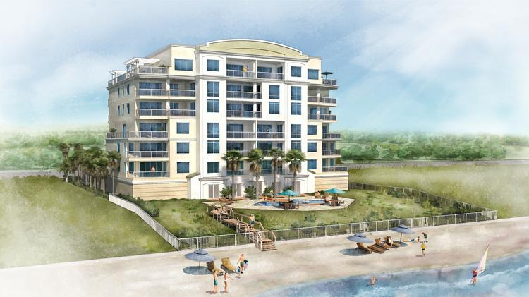 Rendering of the Waterford condominium project in New Smyrna Beach