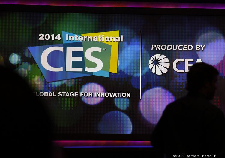 Silhouettes of attendees are seen arriving for the Sony Corp. keynote speech during a news conference at the 2014 Consumer Electronics Show (CES) in Las Vegas, Nevada, U.S., on Tuesday, Jan. 7, 2014. The CES trade show, which runs until Jan. 10, is the world's largest annual innovation event, offering an array of entrepreneur-focused exhibits, events, and conference sessions for technology entrepreneurs. Photographer: Patrick T. Fallon/Bloomberg