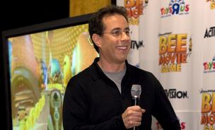 "ctor Jerry Seinfeld speaks during a special appearance for the launch of Activision's ""Bee Movie Game"" at Toys""R""Us Times Square in New York in 2007."