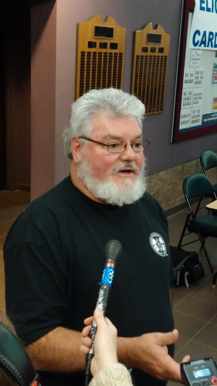 Wilson Ferguson, president of Machinists Local A, pictured after the Nov. 13 Machinists defeat of an earlier Boeing contract. He is among many Machinists leaders who believe the Jan. 3 vote was unfair, and should be rescheduled.
