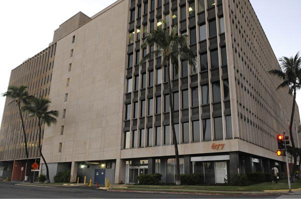 Four national tenants — State Farm Insurance, Edward Jones, U.S. CAD and ExamOne — plan to move to the 677 Ala Moana Building near Downtown Honolulu, seen in this undated file photo.