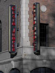 Claim Jumper's signs on the Elks Tower Building.