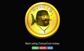 A screencapture of the Coinye download page.