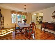 Dining room at Scott Brown's former Wrentham home.
